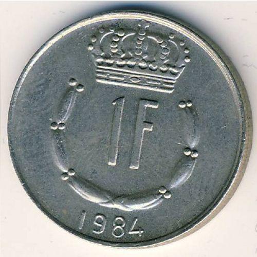 1 франк 1984 год Люксембург. Жан