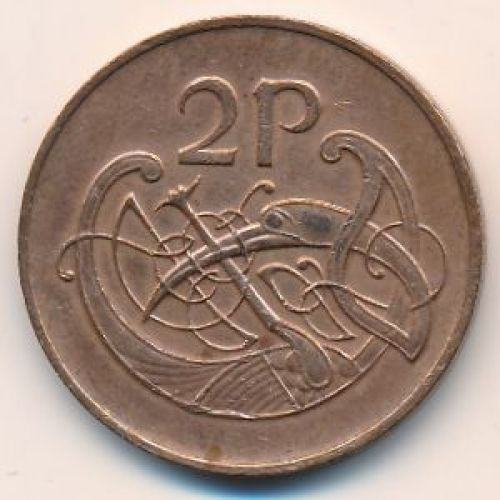 2 пенса 1982 год. Ирландия