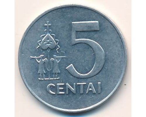 5 центов 1991 год Литва