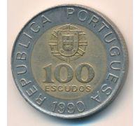 100 эскудо 1990 год Португалия Педро Нуниш