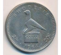 2 шиллинга - 20 центов 1964 год Родезия Елизавета II