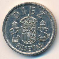 10 песет 1983 год. Испания (diez)