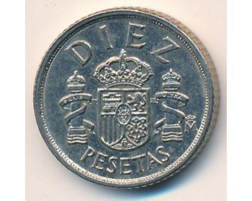 10 песет 1983 год Испания (diez)
