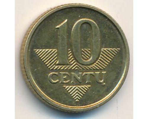 10 центов 1998 год. Литва