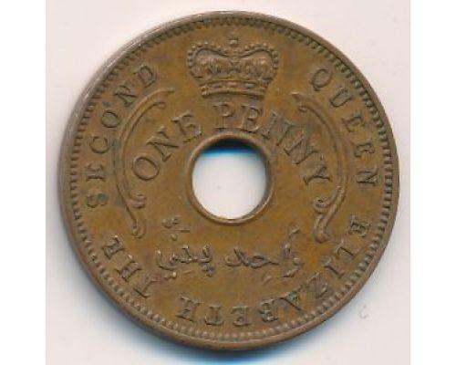 1 пенни 1959 год Нигерия