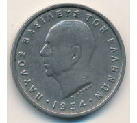 5 драхм 1954 год Греция Павел 1