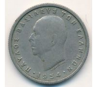 50 лепт 1954 год Греция