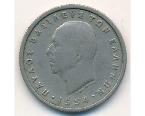 2 драхмы 1954 год Греция