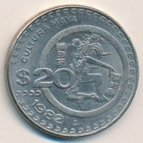20 песо 1982 год. Мексика