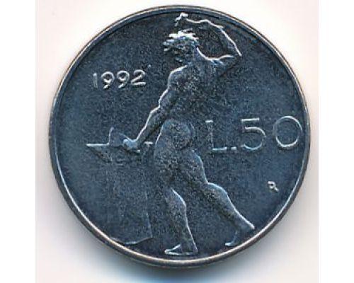 50 лир (1990–1995 г) Италия Маленькая