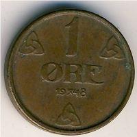 1 эре 1948 год Норвегия