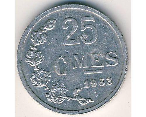 25 сантим 1963 год Люксембург
