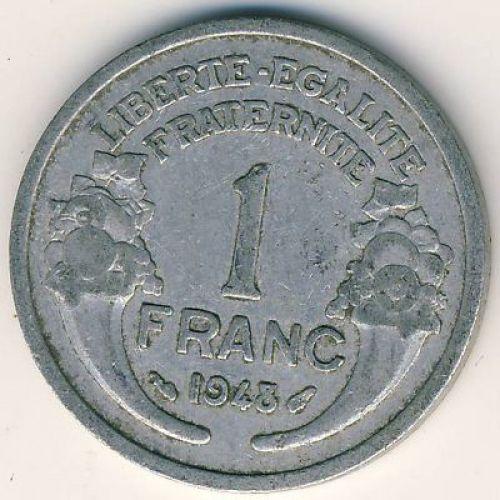 1 франк 1948 год. Франция