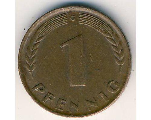 1 пфенниг 1949 год. Германия. ФРГ