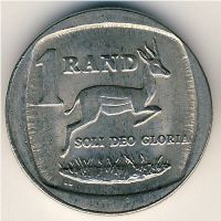 1 рэнд (ранд) 1997 год ЮАР Антилопа