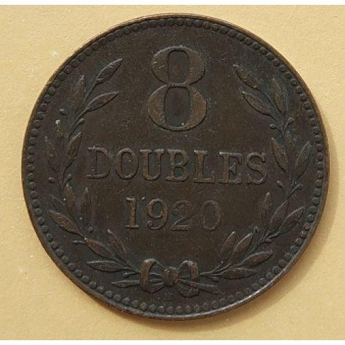 8 дублей 1920 год Гернси - Великобритания