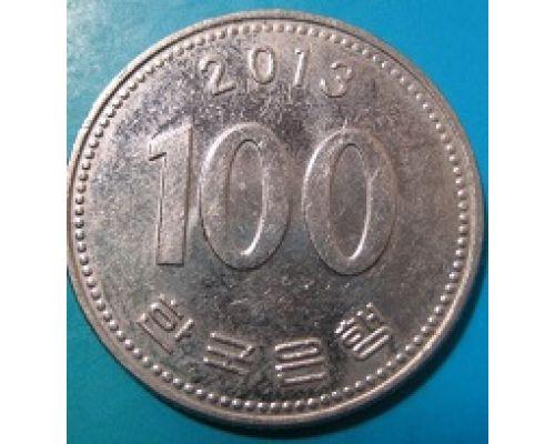 100 вон 2013 год. Южная Корея