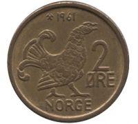 2 эре 1961 год Норвегия Шотландская куропатка