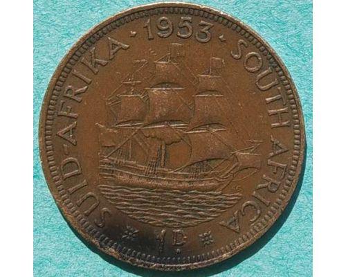 1 пенни 1953 год ЮАР (Британская Южная Африка) Дромедарис
