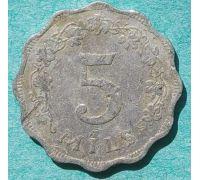 5 милс 1972 год Мальта (мил, милей)