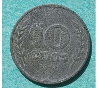 10 центов 1943 года Нидерланды
