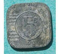 5 центов 1943 года Нидерланды Редкая