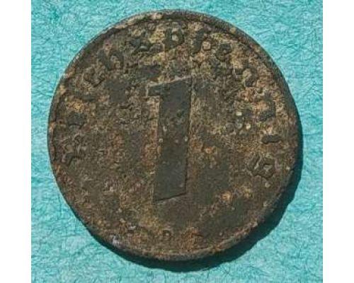 1 рейхспфенниг 1942 год D Германия Третий Рейх
