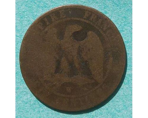 10 сентим 1854 год Франция (сантим) Наполеон III - Лилль