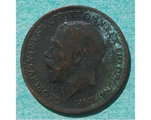 1 фартинг 1917 год Великобритания Георг V