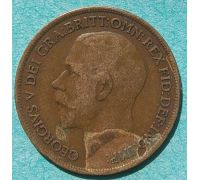 1 пенни 1916 год Великобритания one penny Георг V №2