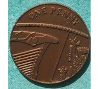 Игровая монета 1 penny 2011 Learning Resourses Великобритания пластик