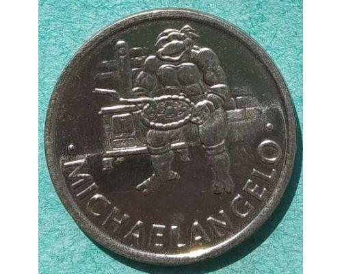 Жетон черепашки-ниндзя MICHAELANGELO 27 мм