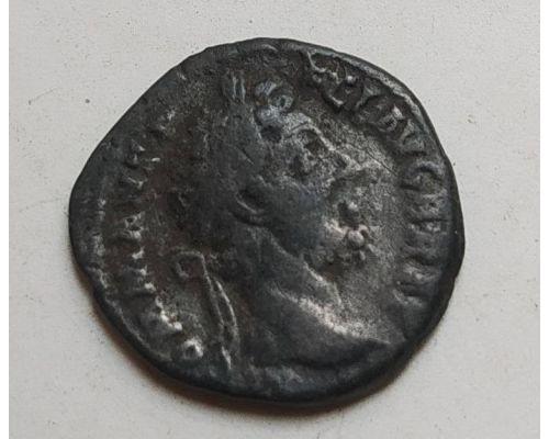 Денарий лимесный Антонин Пий Древний Рим (138 - 161 гг. н.е.) (23)