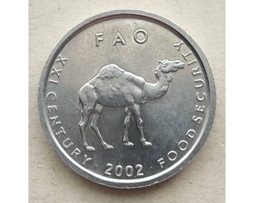 10 шиллингов 2002 год Сомали Верблюд