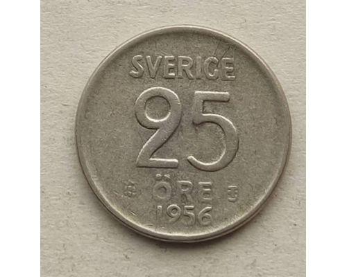25 эре 1956 год Швеция Серебро