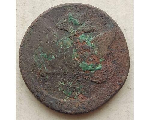 5 копеек 1762 - 1796 год ЕМ Екатерина 2 Царская Россия #1