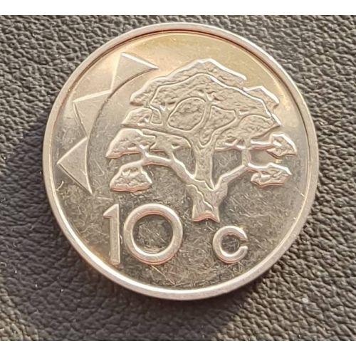10 центов 1993-2002 год. Намибия