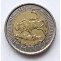 5 рандов 2004 год ЮАР