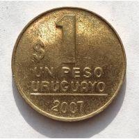 1 песо 2007 год Уругвай
