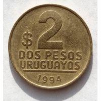 2 песо 1994 год Уругвай