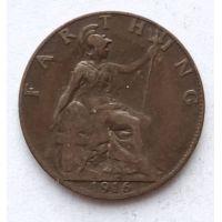 1 фартинг 1916 год Великобритания Георг V