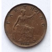 1 фартинг 1934 год Великобритания Георг V