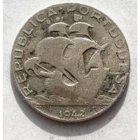 2,5 эскудо 1942 год Португалия Серебро