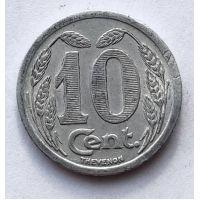 10 сантимов центов 1921 год Нотгельд Франция Торговая палата города Эврё