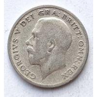 6 пенсов 1920 год Великобритания Георг V Серебро