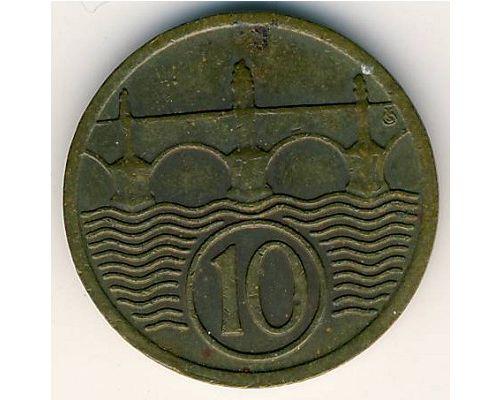 10 гелеров 1928 год Чехословакия