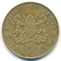 10 центов 1977 год Кения Джомо Кениата