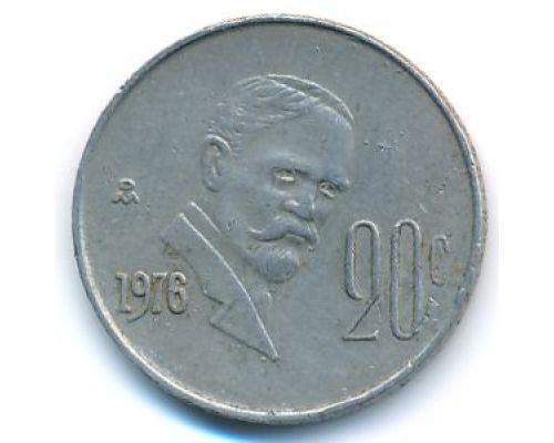 20 сентаво 1976 год Мексика