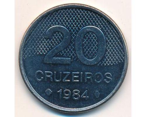 20 крузейро 1984 год Бразилия Церковь Сан-Франческо