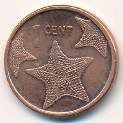 1 цент 2009 год Багамские Острова Морская Звезда (Багамы)